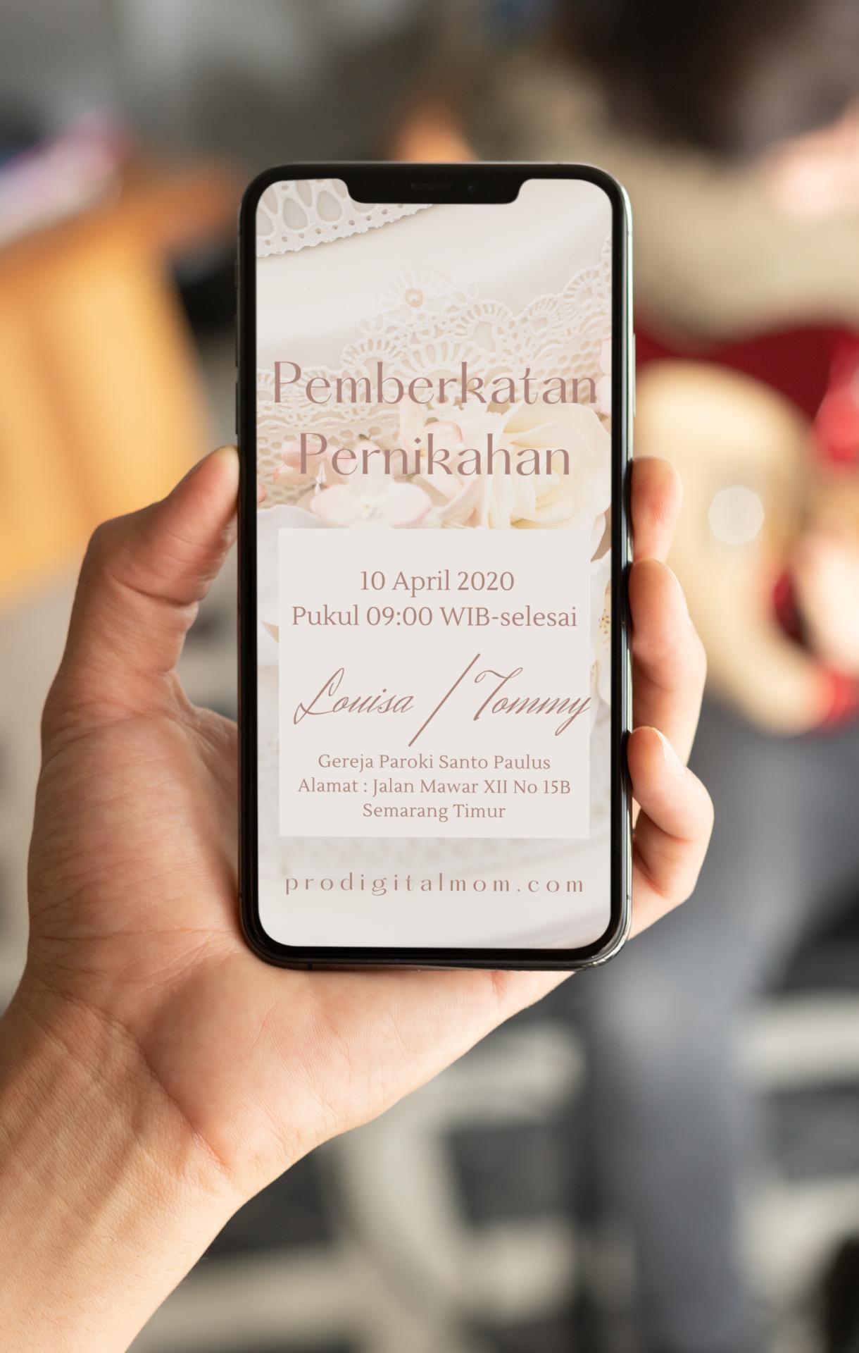 undangan nikah digital white wedding