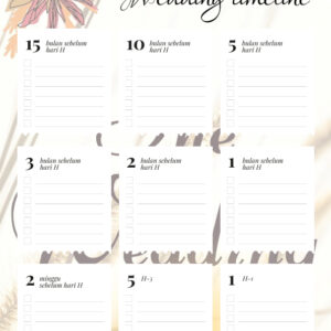 Printable Wedding Set – Blue Ilalang