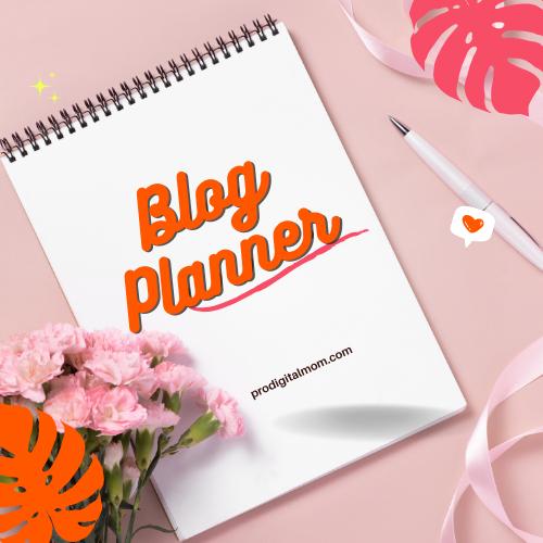 image store blog planner