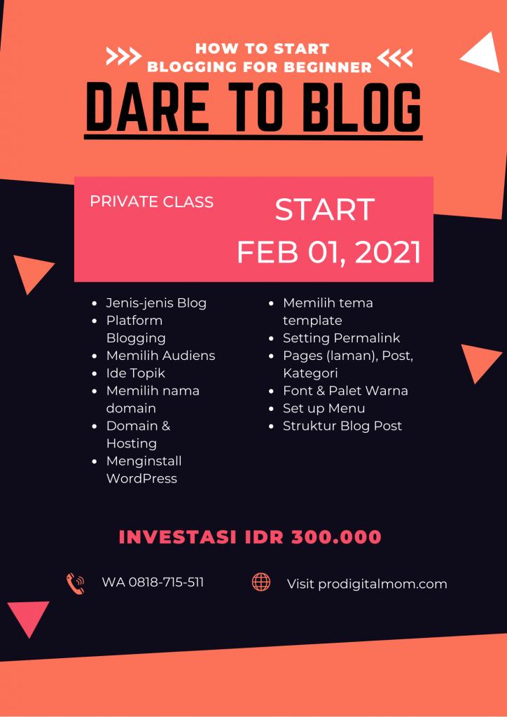 dare to blog private class
